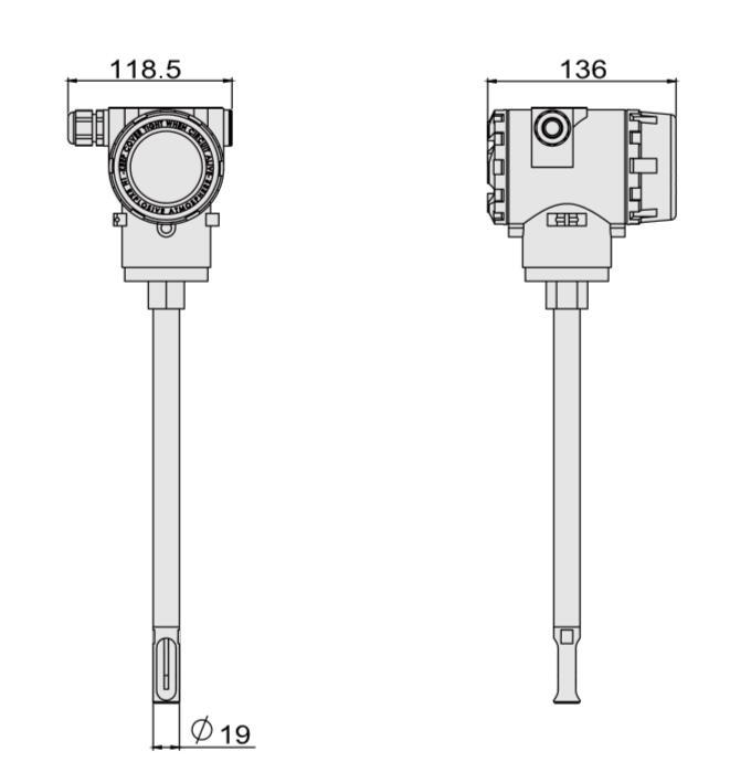 ACU100I插入式热式质量流量计